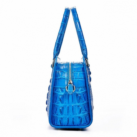 Ladies Crocodile Shoulder Bag, Crocodile Handbag-Side