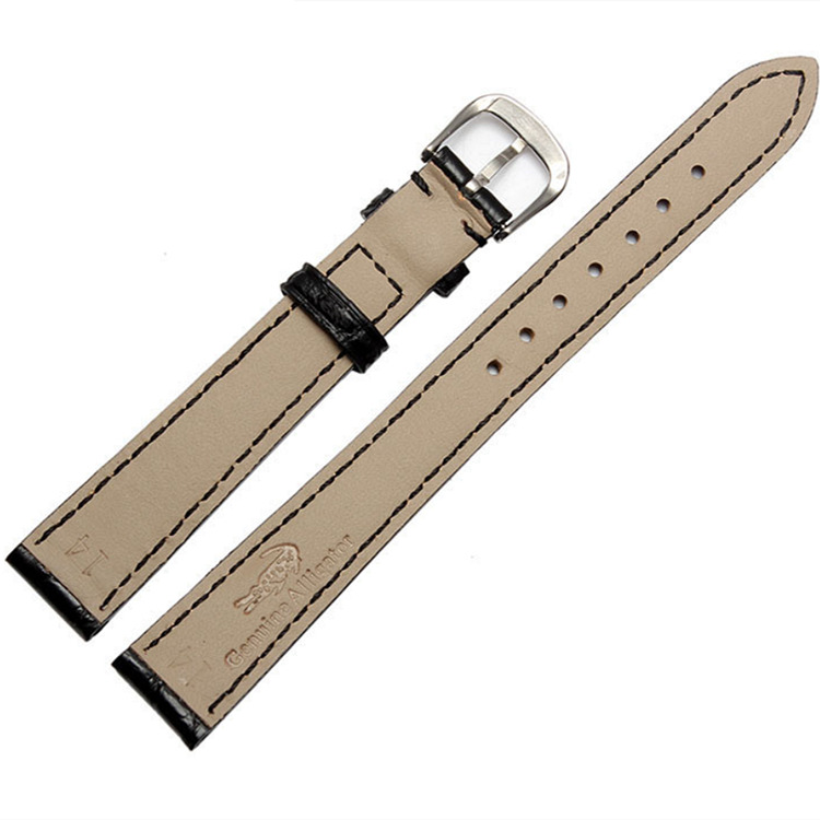 Ladies Genuine Alligator Leather Watch Band-Back