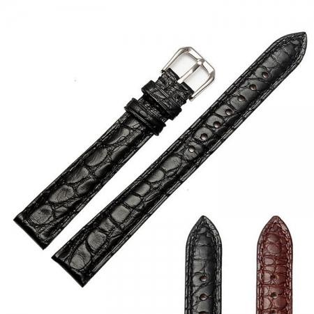 Ladies Genuine Alligator Leather Watch Band-Details