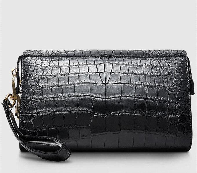 Large Genuine Alligator Wallet-Back