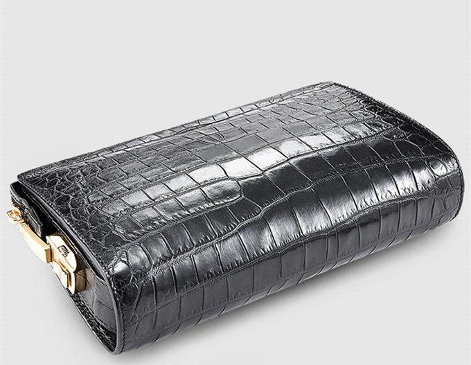 Large Genuine Alligator Wallet-Details