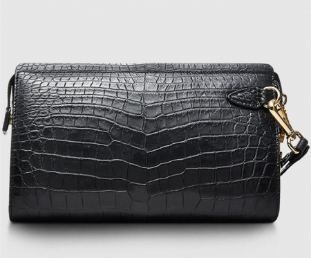 Large Genuine Alligator Wallet-Front