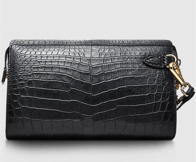 Large Genuine Alligator Wallet-Front