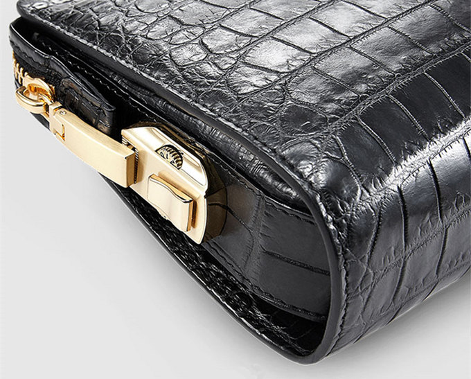 Large Genuine Alligator Wallet-Zipper