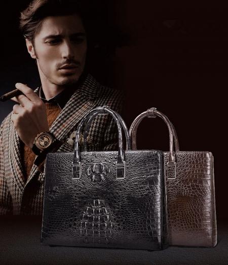 Luxury Crocodile Briefcases, Crocodile Business Bags