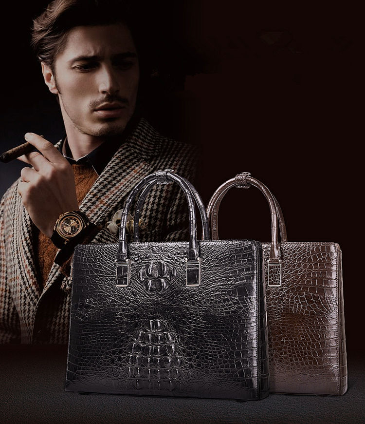 Luxury Crocodile Briefcases, Crocodile Business Bags