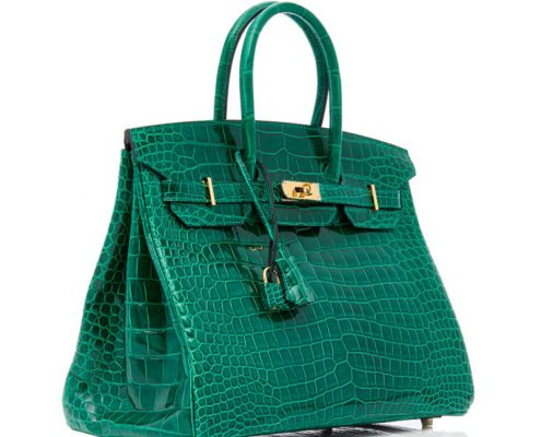 Luxury Genuine Alligator Handbag-Green-30cm