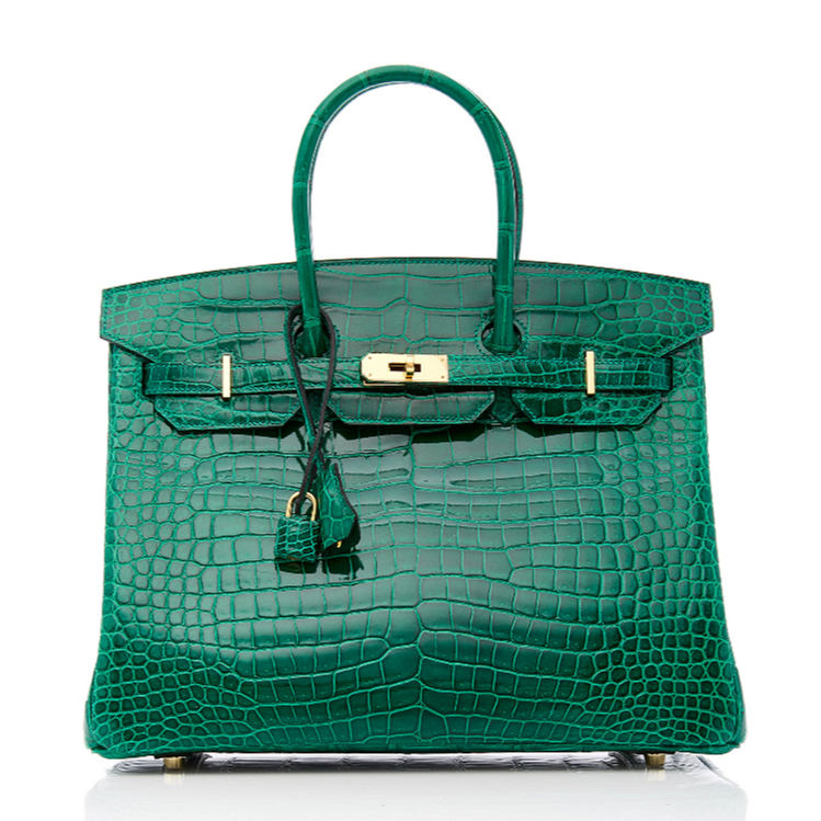 Luxury Genuine Alligator Handbag-Green