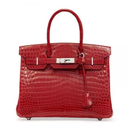 Luxury Genuine Alligator Leather Handbag