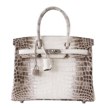 Luxury Genuine Alligator Leather Handbag-White