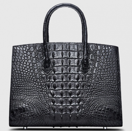 Luxury Genuine Crocodile Handbag for Women-Back