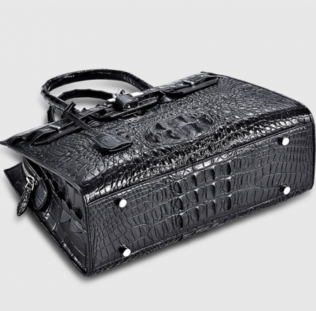 Luxury Genuine Crocodile Handbag for Women-Bottom