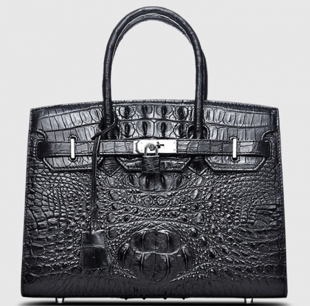 Luxury Genuine Crocodile Handbag for Women-Front