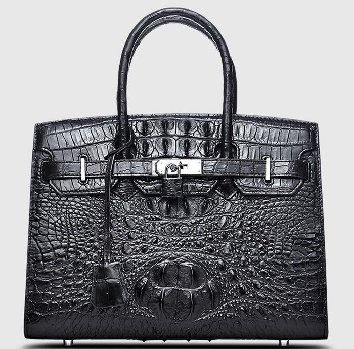 Luxury Genuine Crocodile Handbag for Women-Front