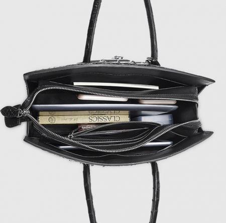 Luxury Genuine Crocodile Handbag for Women-Inside