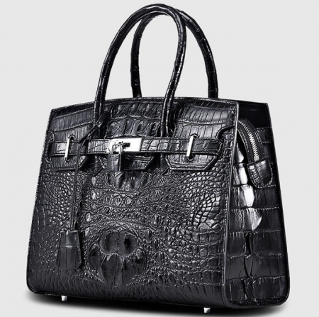Luxury Genuine Crocodile Handbag for Women-Left