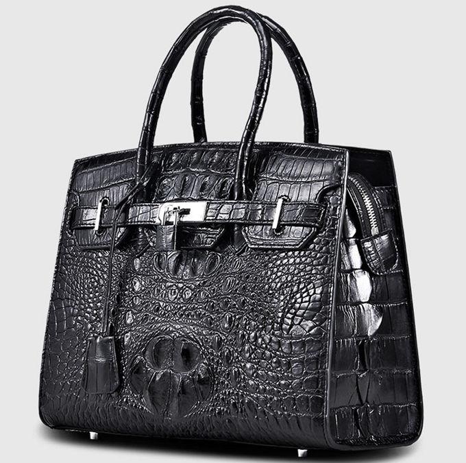 Luxury Genuine Crocodile Handbag for Women-Left