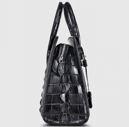 Luxury Genuine Crocodile Handbag for Women-Side