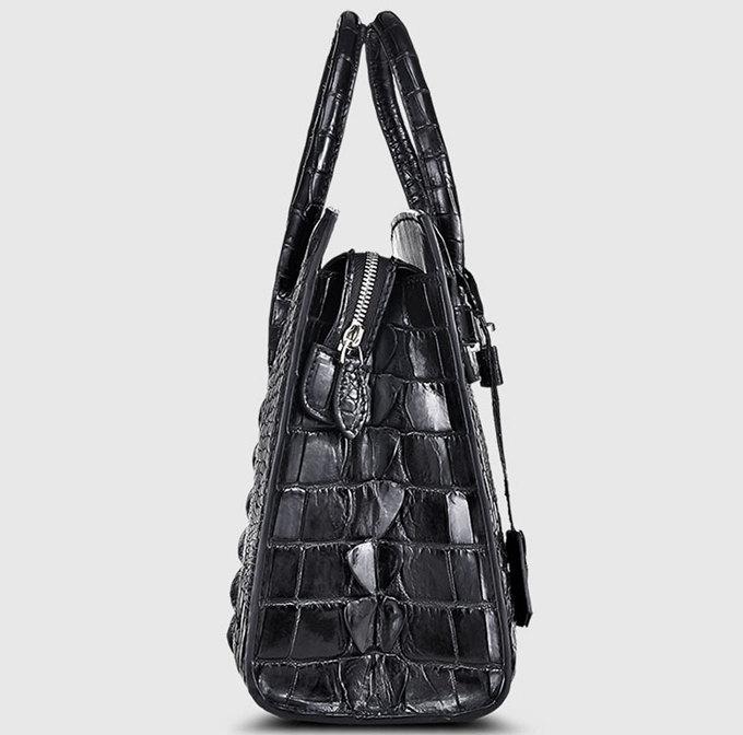 Luxury Genuine Crocodile Handbag for Women-Side