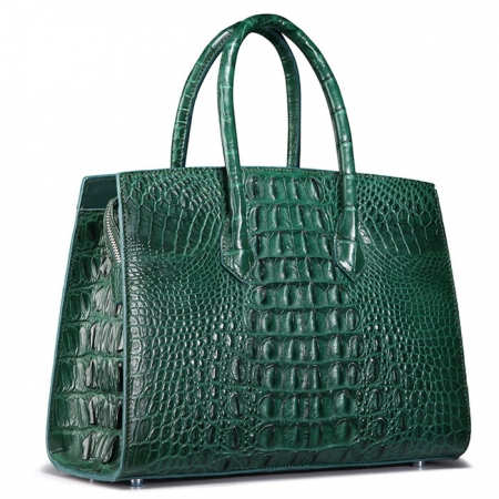 Luxury Green Genuine Crocodile Handbag for Women-Back