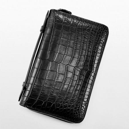 Mens Alligator Clutch Bag, Large Alligator Wallet-1