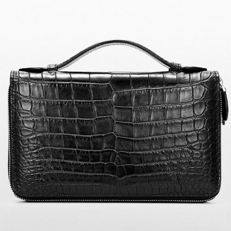 Mens Alligator Clutch Bag, Large Alligator Wallet-2