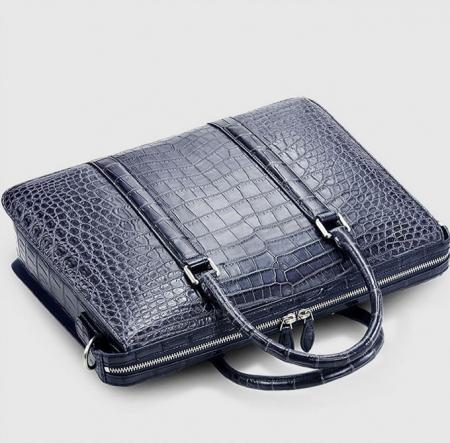 Mens Fashion Alligator Bag-Blue-Top