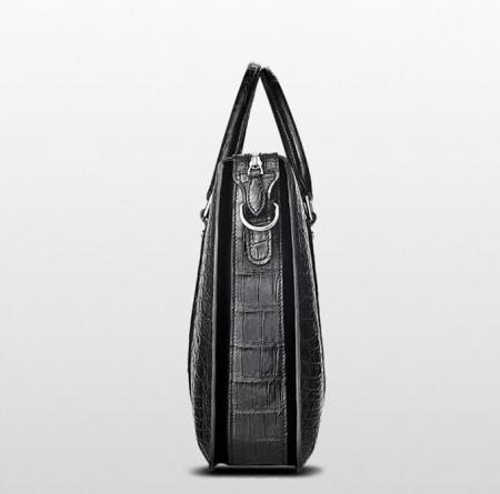 Mens Fashion Alligator Business Briefcase Alligator Bag-Black-Side