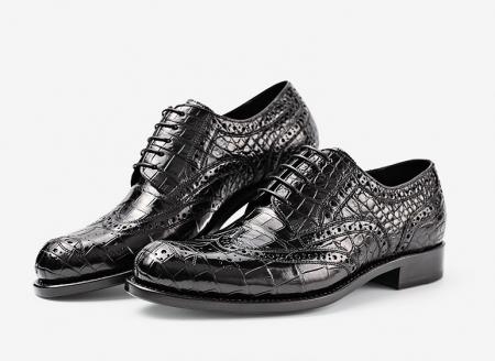 Men's Genuine Alligator Leather Oxford Business Dress Shoes-Exhibition