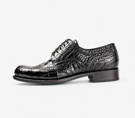 Men's Genuine Alligator Leather Oxford Business Dress Shoes-Side