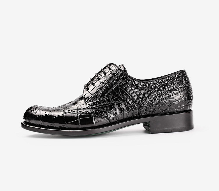 s genuine alligator leather oxford business dress shoes