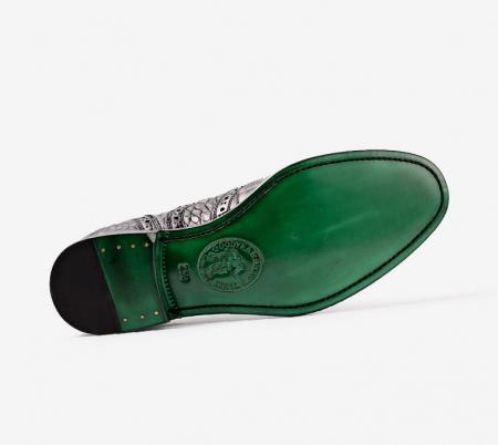 Men's Genuine Alligator Leather Oxford Business Dress Shoes-Sole