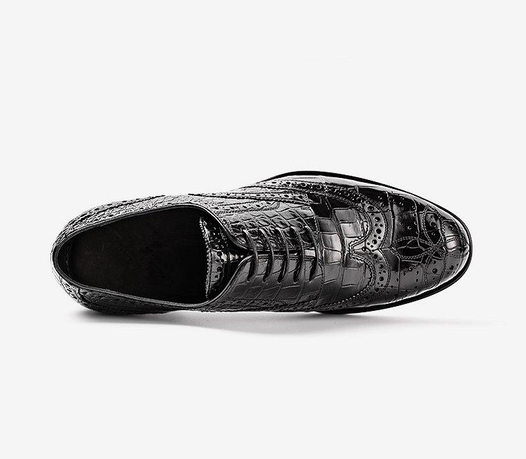 Men's Genuine Alligator Leather Oxford Business Dress Shoes-Upper