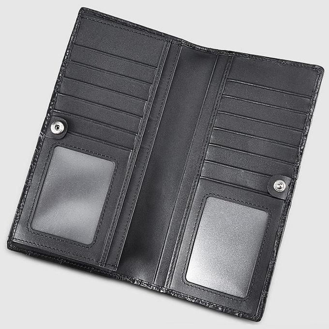 Mens Genuine Crocodile Wallet-Inside