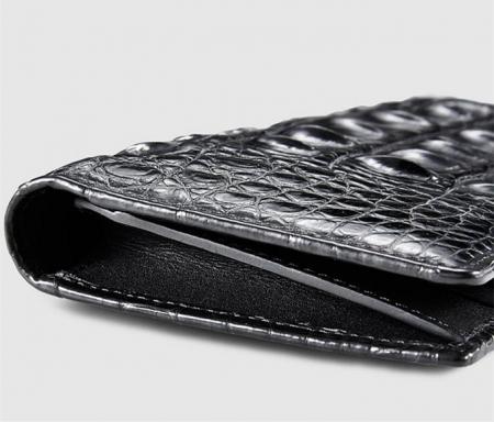 Mens Genuine Crocodile Wallet-Left