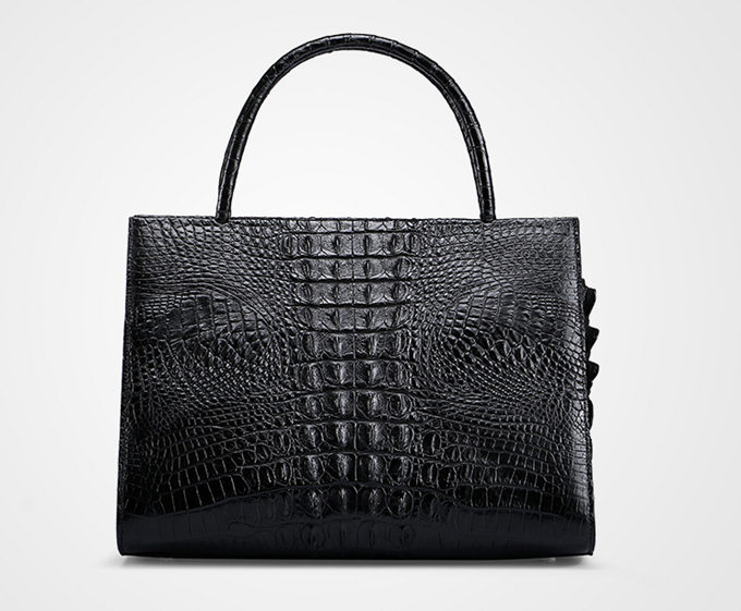 Professional Genuine Crocodile Handbag-Back