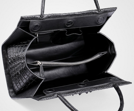 Professional Genuine Crocodile Handbag-Inside