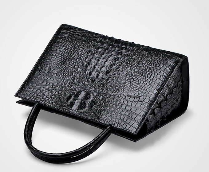 Professional Genuine Crocodile Handbag-Top
