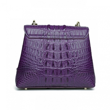 Stylish Alligator Evening Purse-Back