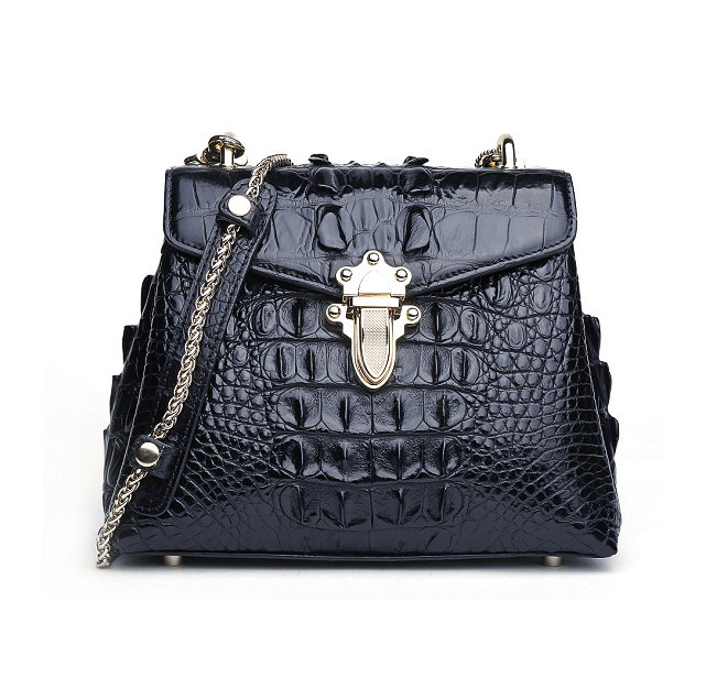 Stylish Alligator Evening Purse-Black