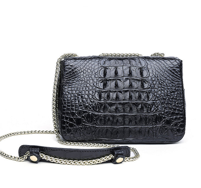 Stylish Alligator Purse, Small Alligator Crossbody Bag-Back