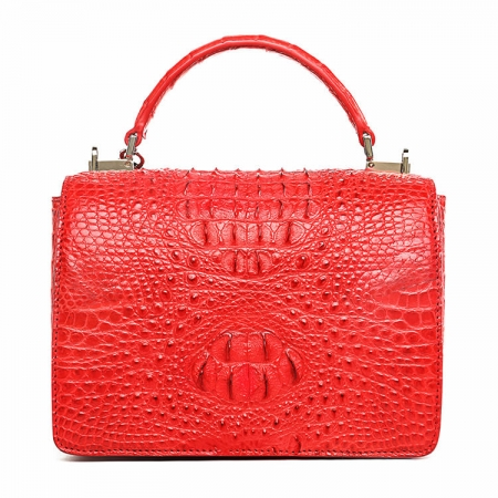 Stylish Crocodile Crossbody Handbag-Back