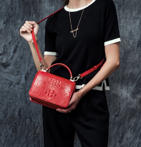 Stylish Crocodile Crossbody Handbag-Exhibition-3