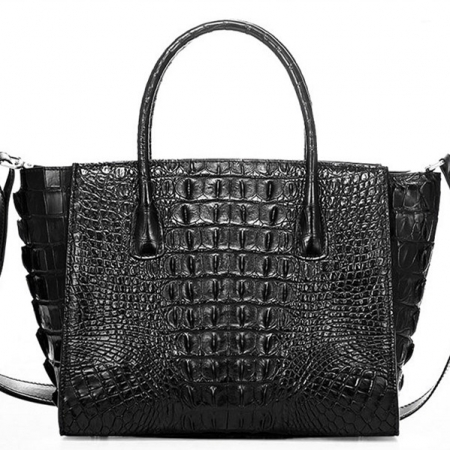 Stylish Crocodile Handbag, Crocodile Tote-Back