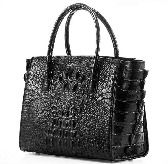 Stylish Crocodile Handbag, Crocodile Tote-Side