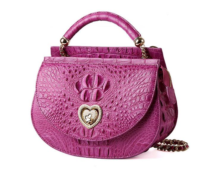 Stylish Crocodile Leather Evening Handbag-1