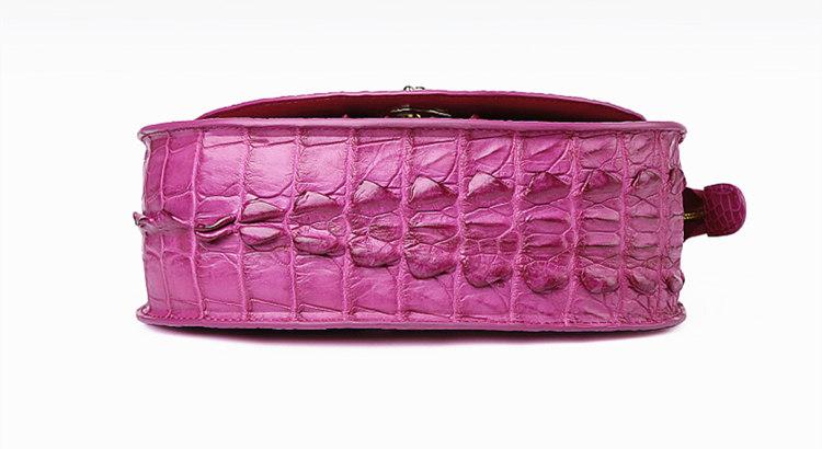 Stylish Crocodile Leather Evening Handbag-Bottom