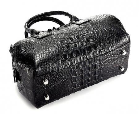Stylish Crocodile Skin Barrel Bag-Bottom