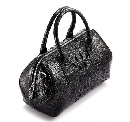 Stylish Crocodile Skin Barrel Bag-Top