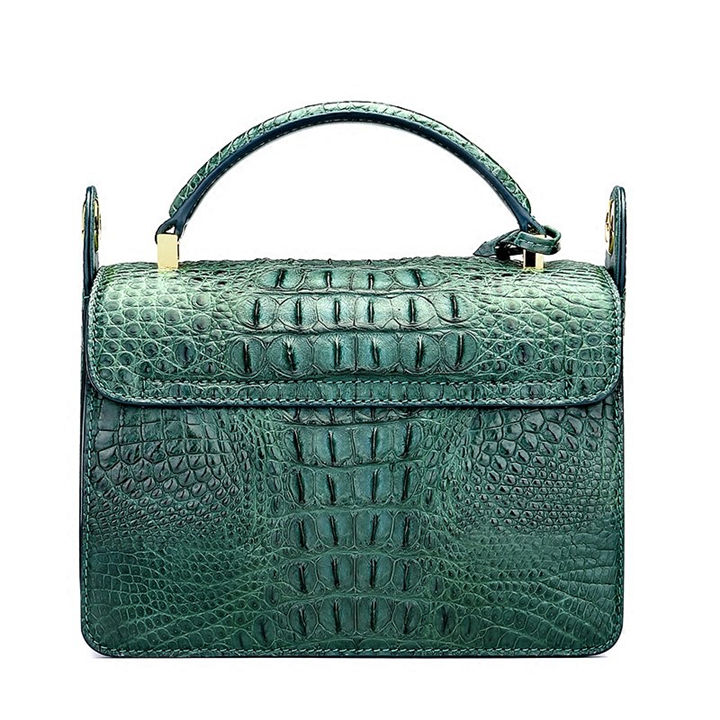 Timeless Crocodile Leather Handbag-Back